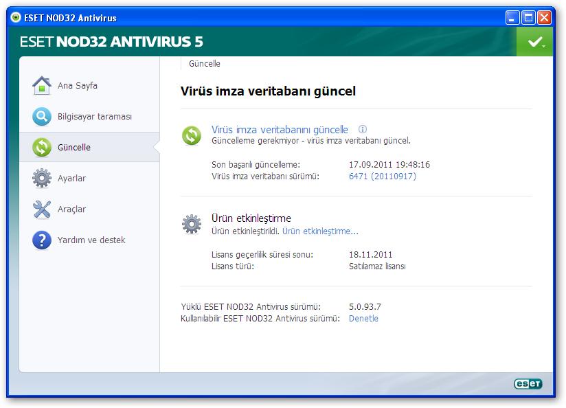 Eset nod32 antivirus 5 with full key. download linkESET NOD32